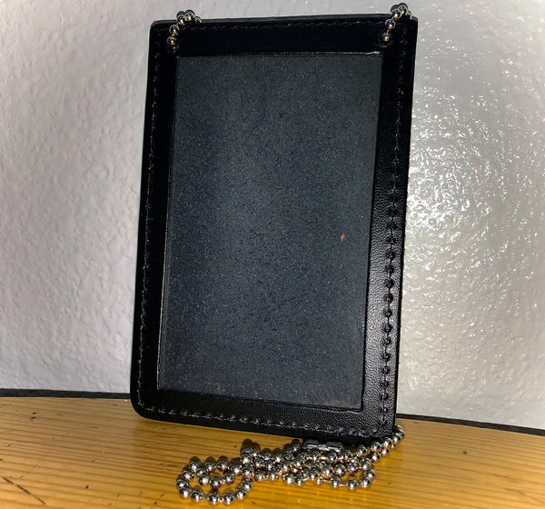 Double ID Holder For Neck With Chain