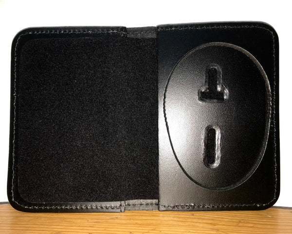 Duty Leather Book Style Case With Badge Cutout