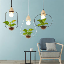 Load image into Gallery viewer, Zox - Modern Nordic Iron Pendant Planter Lamp