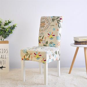 Flower Cream Chair Cover