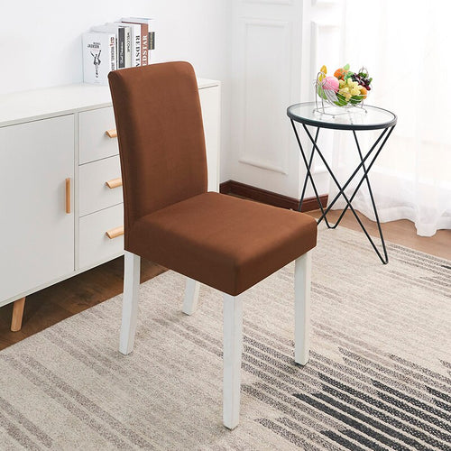 Abby Coffee Brown Chair Cover