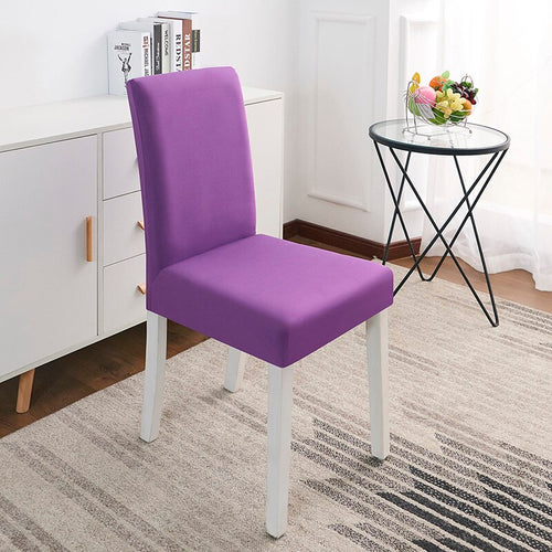 Abby Purple Chair Cover
