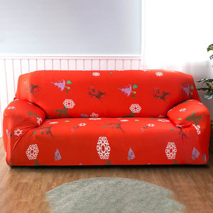 Christmas Tree Red Sofa Cover