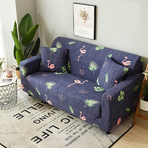 Flamingo Denim Blue Sofa Cover