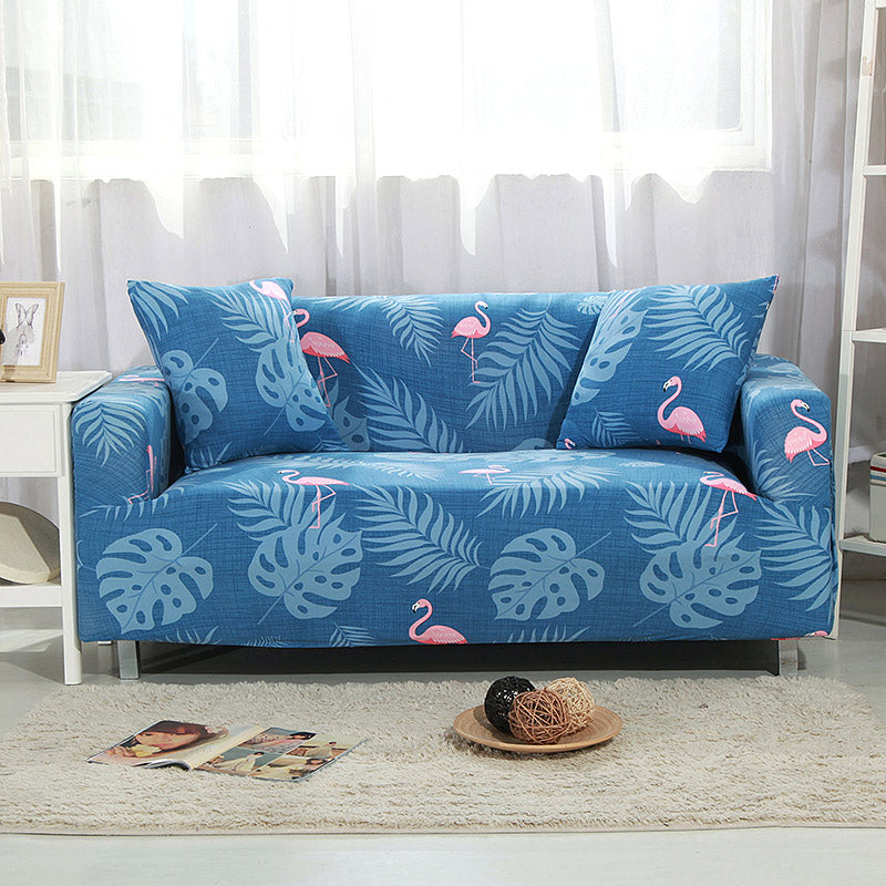 Flamingo Sky Blue Sofa Cover