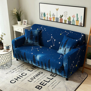 Night Sky Blue Sofa Cover