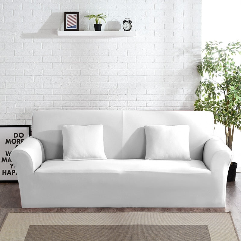 Abby White Sofa Cover