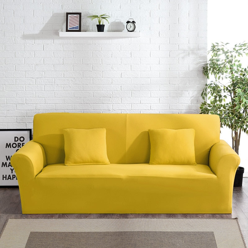 Abby Yellow Sofa Cover