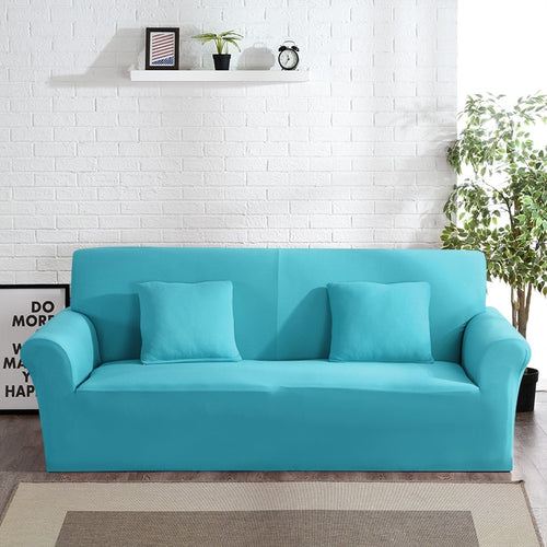 Abby Aqua Sofa Cover