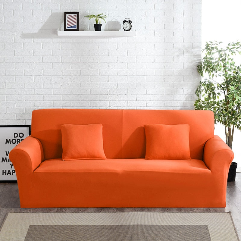 Abby Orange Sofa Cover