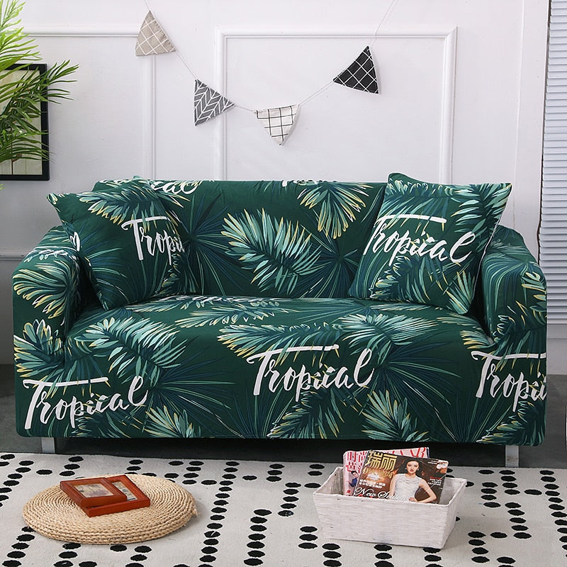 Tropical Green Sofa Cover