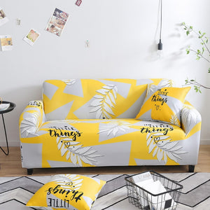 Quote Yellow Sofa Cover