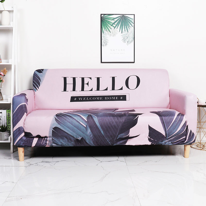 Hello Pink Sofa Cover