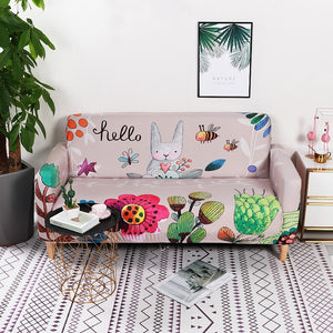 Bunny Pink Sofa Cover