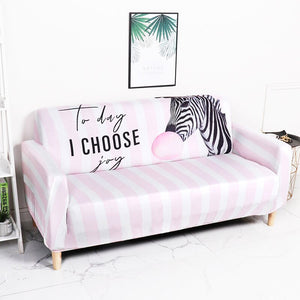 Zebra Balloon Pink Sofa Cover