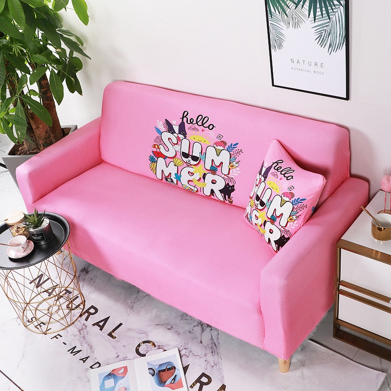 Summer Pink Sofa Cover