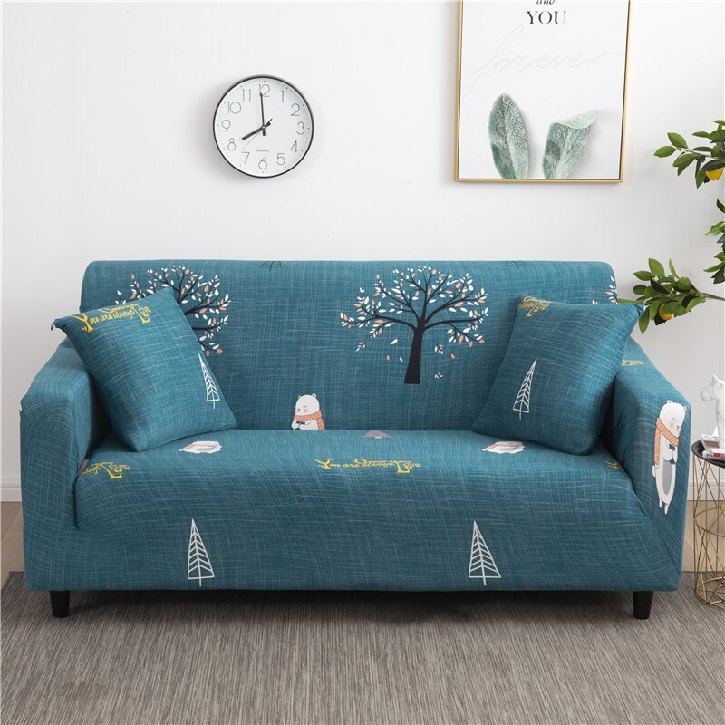 Trees Teal Sofa Cover