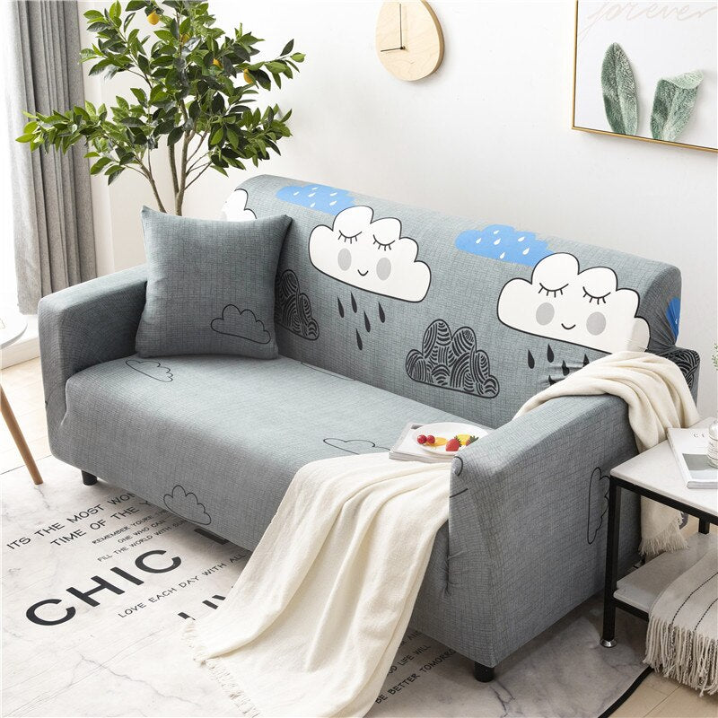 Clouds Grey Sofa Cover