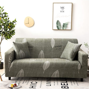 Leaf Forest Green Sofa Cover
