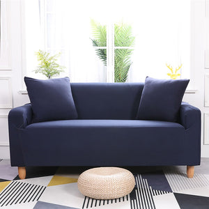 Abby Dark Blue Sofa Cover