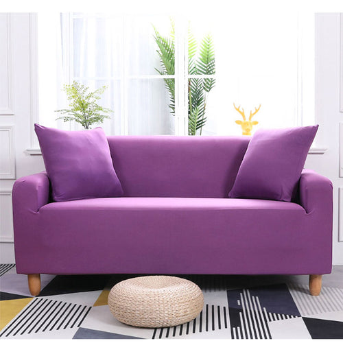 Abby Purple Sofa Cover