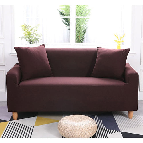 Abby Coffee Brown Sofa Cover