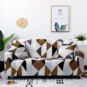Dee Geometric Sofa Cover