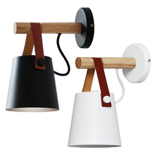 Load image into Gallery viewer, Nordic Wooden Hanging Wall Lamp