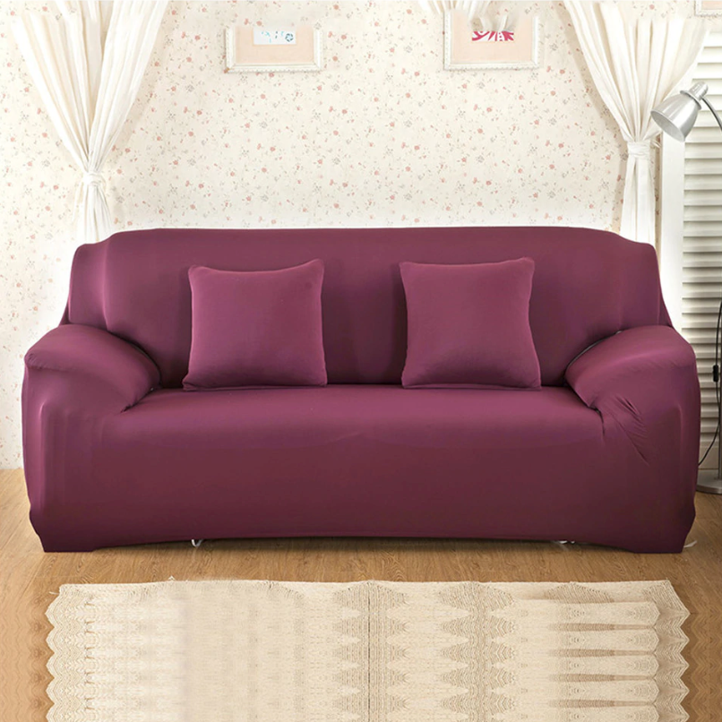 Abby Wine Red Sofa Cover