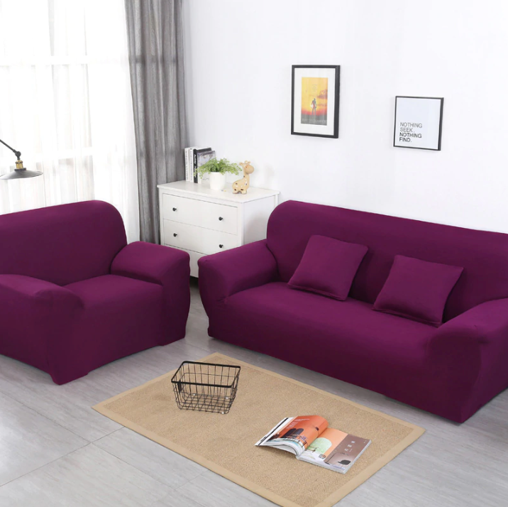 Dark Purple Sofa Cover
