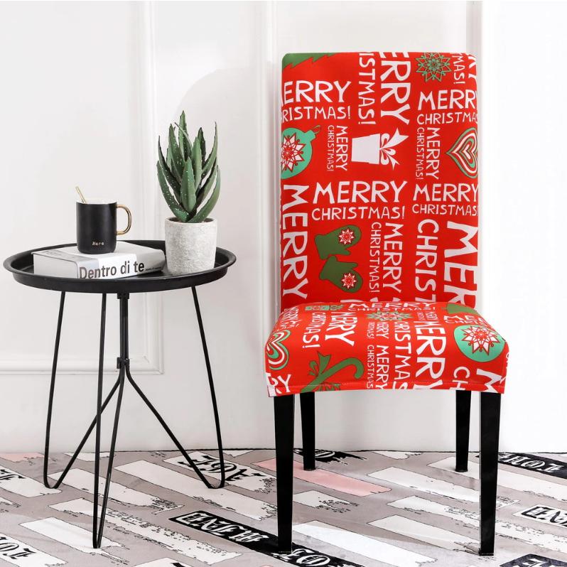 Christmas Red Chair Cover