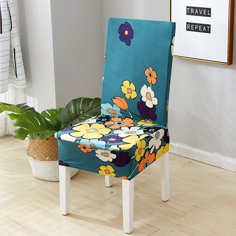 Flowers Green Chair Cover
