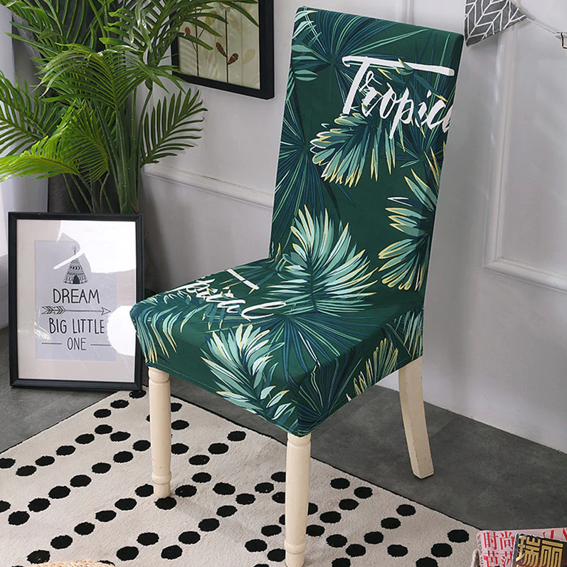Tropical Green Chair Cover