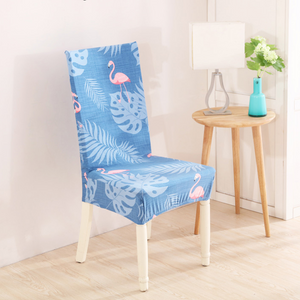 Flamingo Sky Blue Chair Cover