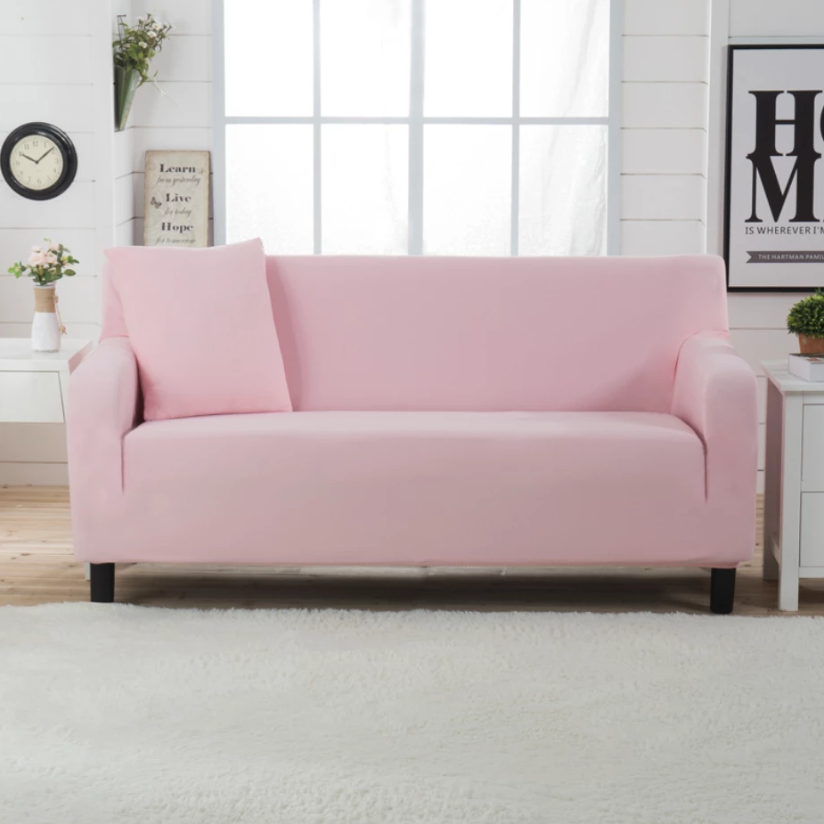 Baby Pink Sofa Cover
