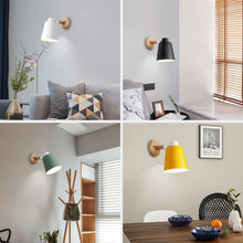 Load image into Gallery viewer, Modern Nordic Wooden Wall Lamp