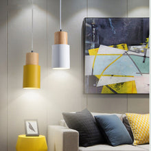 Load image into Gallery viewer, Designer Nordic Wooden Base Hanging Light