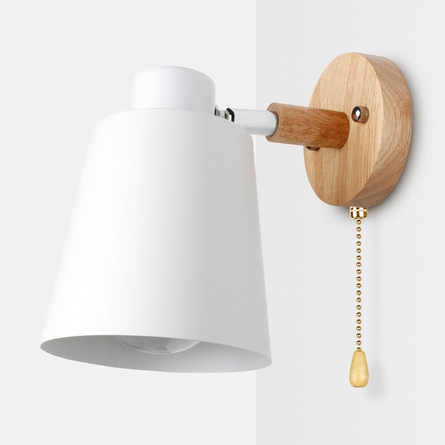 Modern Nordic Wooden Wall Lamp
