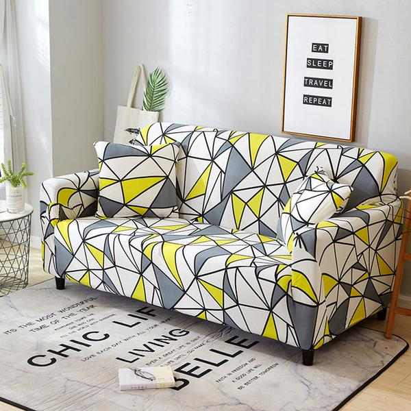 Elenia Geometric Sofa Cover