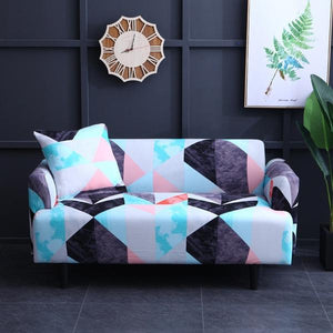 Ida Geometric Sofa Cover