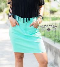 Load image into Gallery viewer, Crazy Train The Law Maker Skirt - Turquoise