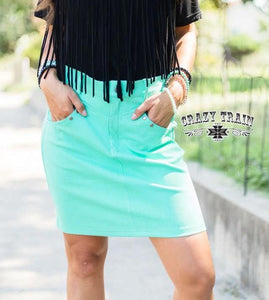 Crazy Train The Law Maker Skirt - Turquoise