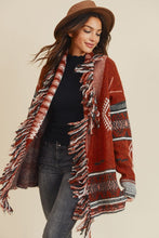 Load image into Gallery viewer, Fringe Aztec Sweater Cardigan