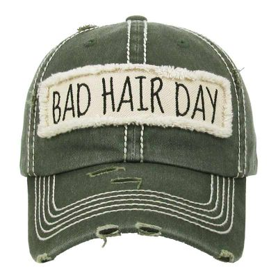 Bad Hair Day Olive Green Hat CLEARANCE