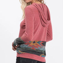 Load image into Gallery viewer, Tribal Hoodie Top in Mauve