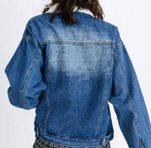 Load image into Gallery viewer, Sherpa Lined Denim Jacket