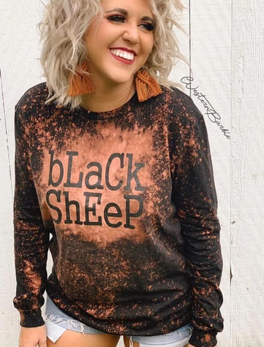 Black Sheep Bleached Unisex Long Sleeve Shirt