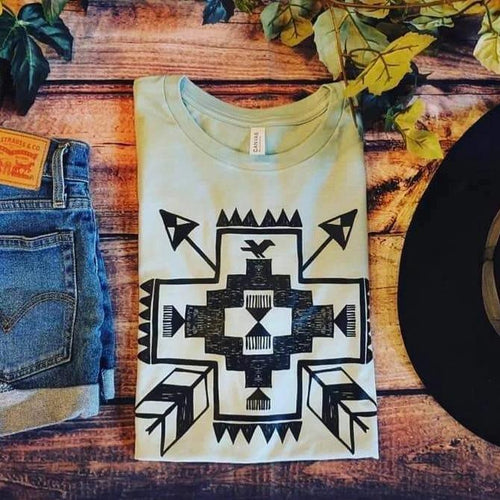 Aztec Cross Unisex Shirt