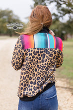 Load image into Gallery viewer, Crazy Train Jayco Junction Zip Over Hoodie Serape Leopard