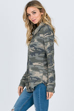 Load image into Gallery viewer, Camo Cowl Neck Tunic Top CLEARANCE